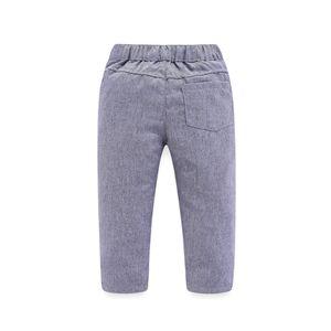 Image 5 - 子供少年服紳士グレーベスト + 長袖白シャツ + パンツ子供 4 ピーススーツスーツ子供のための衣装