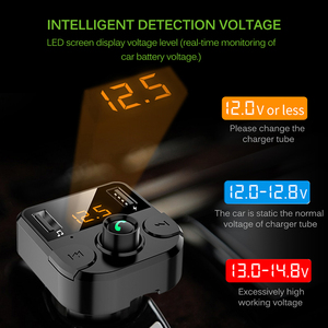 Image 5 - Onever רכב Fm משדר LCD MP3 נגן אלחוטי Bluetooth קבלת רכב ערכת 3.1A מהיר USB ידיים משלוח USB מטען FM מודולטור