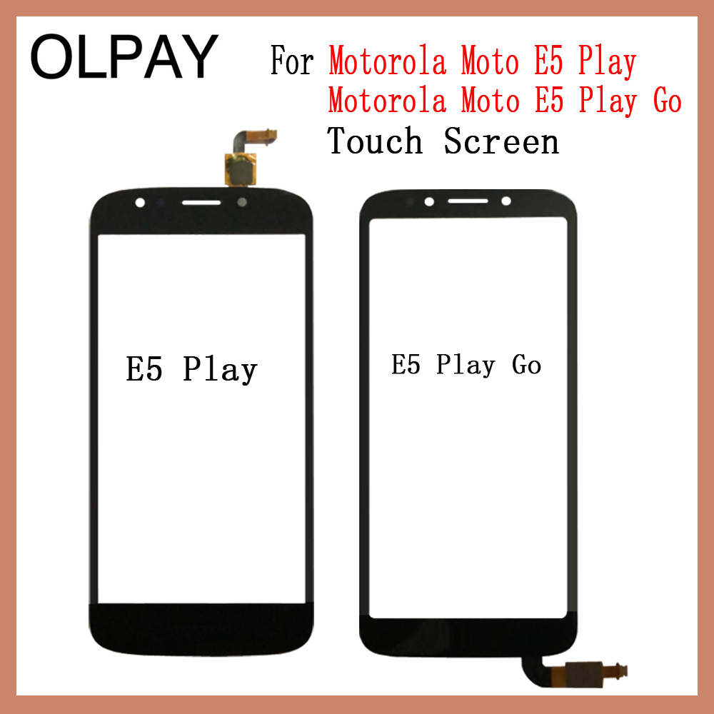 OLPAY For Motorola Moto E5 Play Touch Screen Digitizer For Motorola Moto E5 Play Go Touch Panel Touchscreen Sensor Front Glass