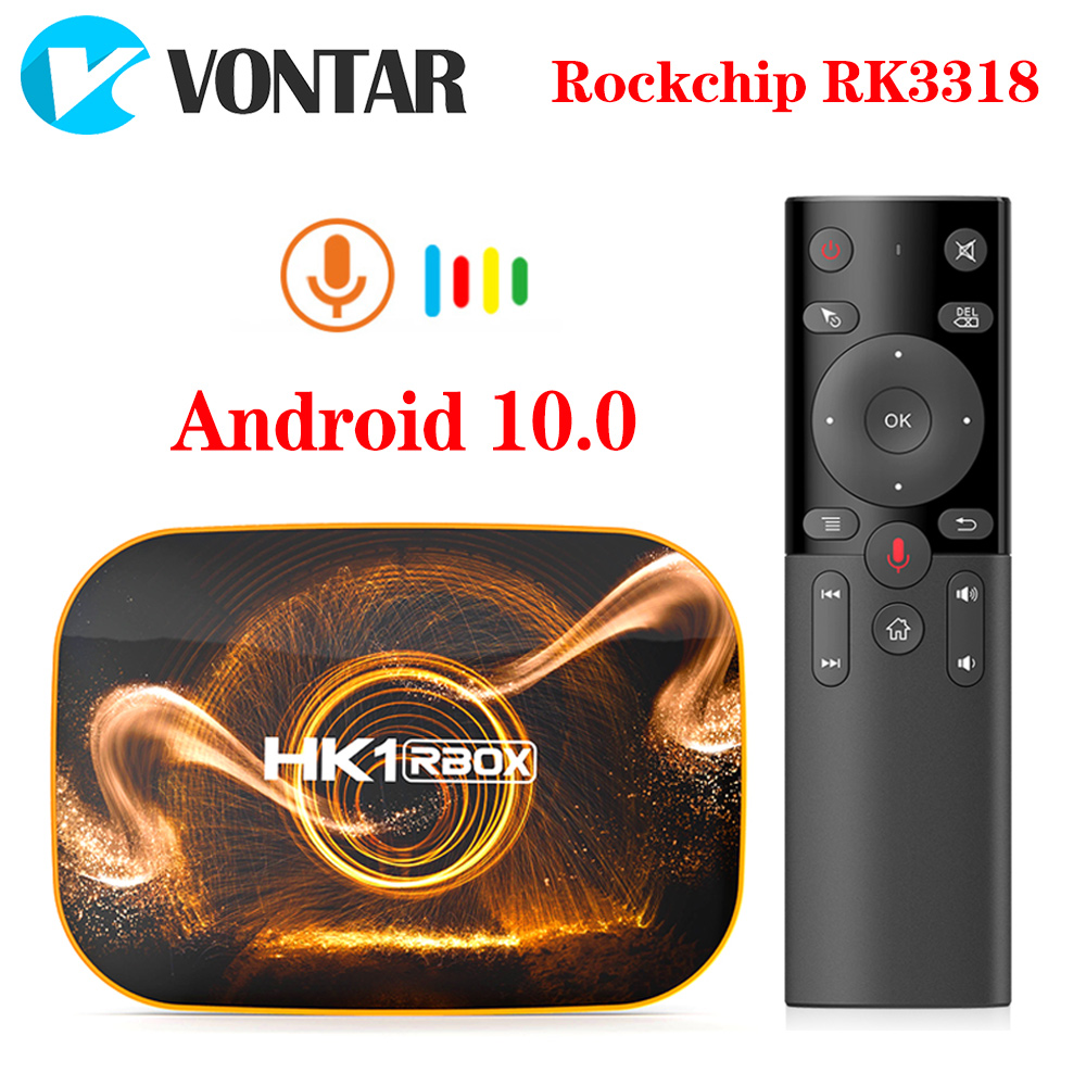 VONTAR HK1 BOX TVBox Android 10 4GB 64GB Rockchip RK3318 1080p 4K  Android TV Set Top Box HK1 RBOX R1 Android 10.0 TV BOX