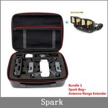 スパークのための防水収納袋炭素繊維ポータブルキャリーケースハンドバッグ dji スパークドローンアクセサリー