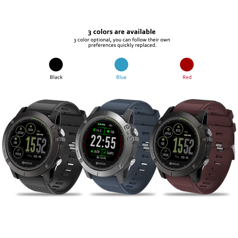 New Zeblaze VIBE 3 HR <font><b>Smartwatch</b></font> IP67 Waterproof Wearable Device Heart Rate Monitor IPS Color Display Sport Smart Watch image