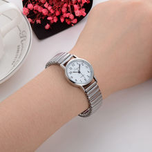 Montre-bracelet à Quartz en acier inoxydable pour femmes, à la mode, pour Couple, cadran élégant, bague de luxe