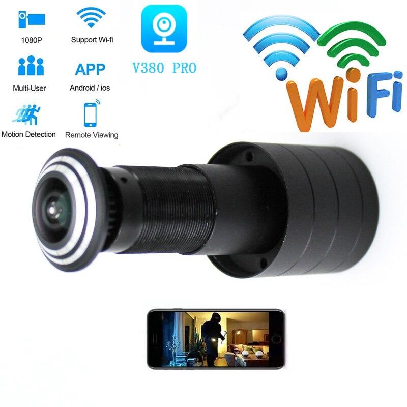 WIFI Door Eye Camera IP Bullet Camera P2P CAMERA IP CCTV Camera  Home Security Door Camera  Small IP Camera TF Card Slot