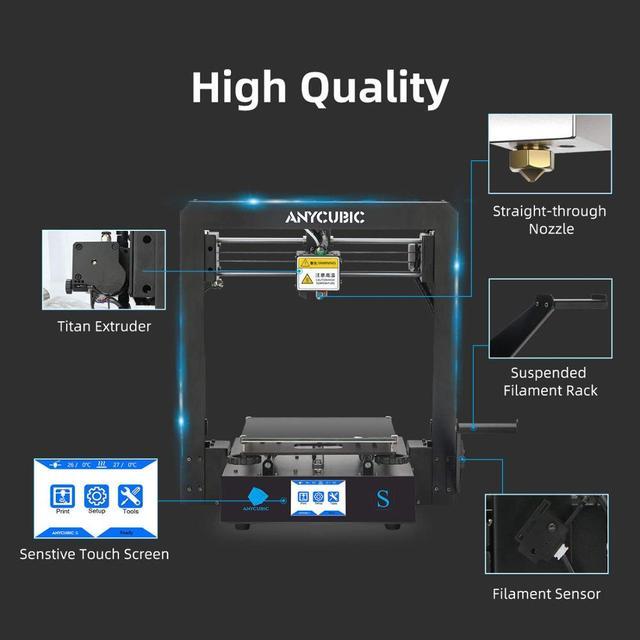 ANYCUBIC Mega-S Mega S 3D Printer I3 Mega Upgrade Large Size TPU High Precision Touch Screen DIY 3D Printer kit impressora 3d 2