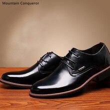 Mountain Conqueror Fashion Business Dress Men Shoes 2019 New Split Leather Mens Suits Slip On Classic Oxfords