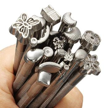 20 sztuk partia zestaw znaczek metalowy skórzany znaczek DIY znaczek rzeźba narzędzia skórzane siodło podejmowania narzędzi tanie i dobre opinie CN (pochodzenie) Metal Stamp Set Standardowy znaczek Other Leather Working Saddle Making Tools