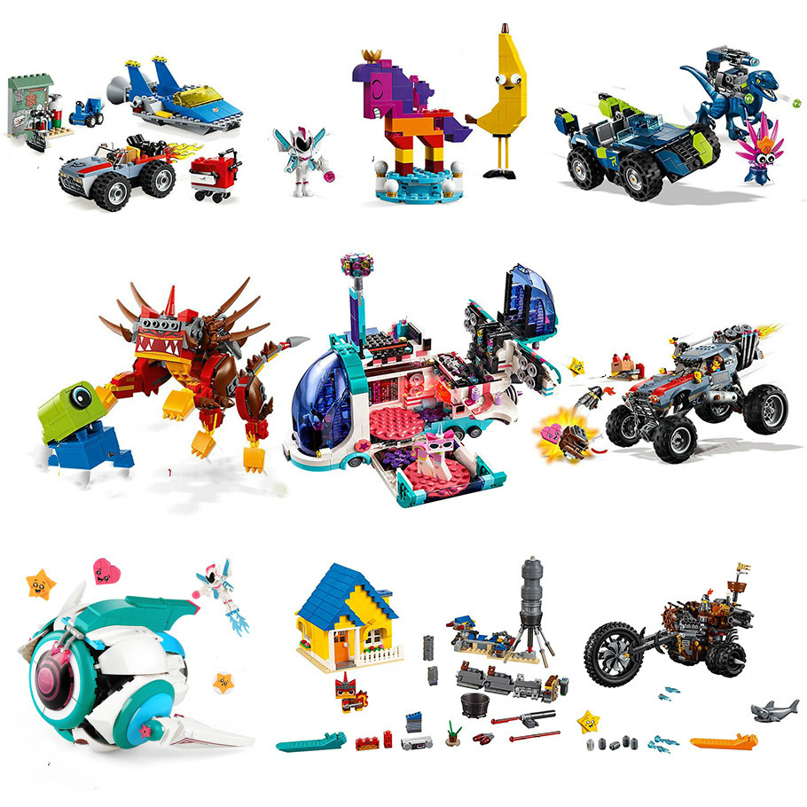 Movie 2 Series Sweet Mayhem's Systar Starship Model Building Block Model Set Bricks Toys Gift Movie 70830 70828 70829 70831