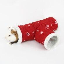 3 способ хомяк туннель теплая игрушка домик для домашних животных маленькие животные мягкие Аксессуары для упражнений мышь, шиншилла игра морская свинка трубы клетки