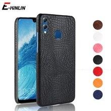 Чехол для телефона из крокодиловой змеиной кожи для Huawei Honor 9A 9C 9S 9X Lite Premium 8X 8S 8C 8A 7X 7S 7C 7A Pro Жесткий пластиковый Чехол для задней панели