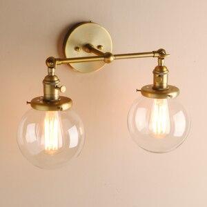 Image 3 - Permotriassischen Moderne Schlafzimmer Wand Leuchtet Treppen Wand Lampe Leuchte 5.9 Globus Glas Doppel Ball Köpfe Vintage Innen Leuchten