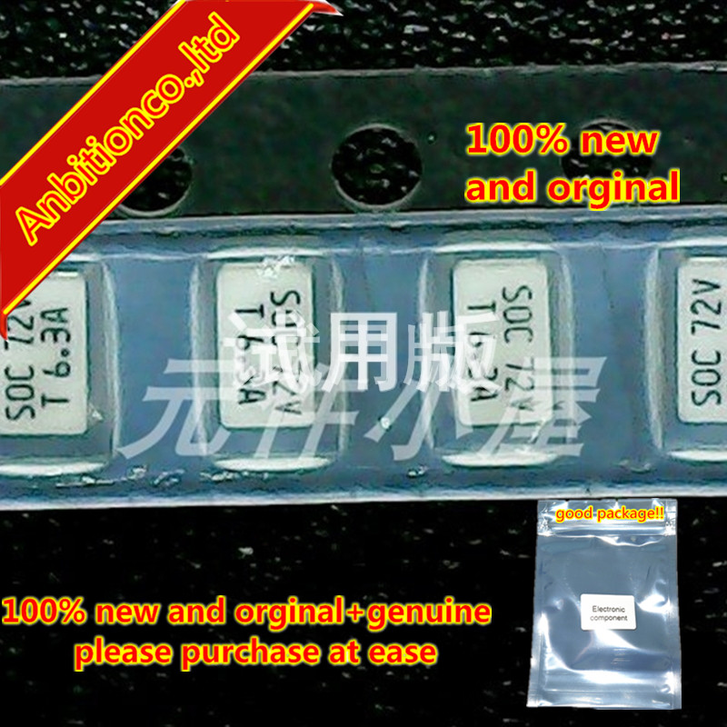 10pcs 100% New And Orginal 11CT1AR08B4 1206 1A 72V SOC 72V T1A SOC Manufacturer's Delayed Fuse In Stock
