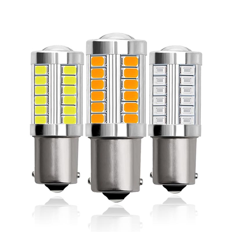 1x P21W Ba15S 1156 Bay15d 1157 Car LED Signal Bulb DRL Super Bright Fog Lamp Auto Tail Brake Reverse Parking Light 12V White Red