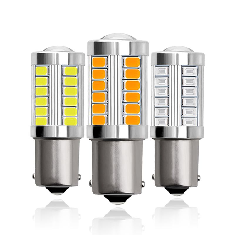 1x <font><b>P21W</b></font> Ba15S 1156 Bay15d 1157 Car <font><b>LED</b></font> Signal <font><b>Bulb</b></font> DRL Super Bright Fog Lamp Auto Tail Brake Reverse Parking Light 12V White Red image