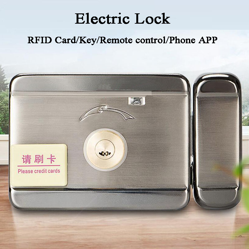 Waterproof Electronic RFID Door Lcok Gate Access Control System 13.56MHz IC Lock Wifi Remote Control Phone Ewlink Video Intercom