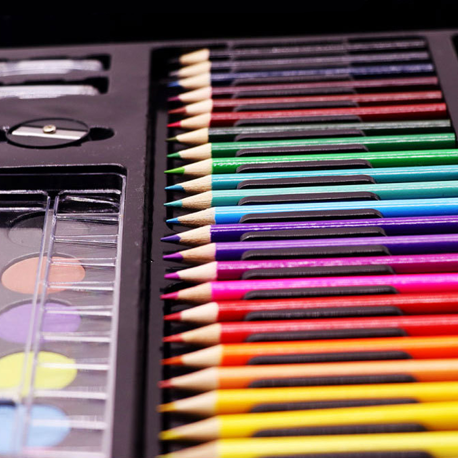 168PCS Painting Drawing Art Artist Set Kit Water Color Pen Crayon Oil Pastel Painting Tool Supplies Kids Stationery Gift Set 4