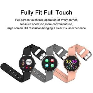 Image 2 - 2020 pleine touche montre intelligente hommes pression artérielle Smartwatch femmes étanche fréquence cardiaque Tracker Sport horloge montre pour Android IOS