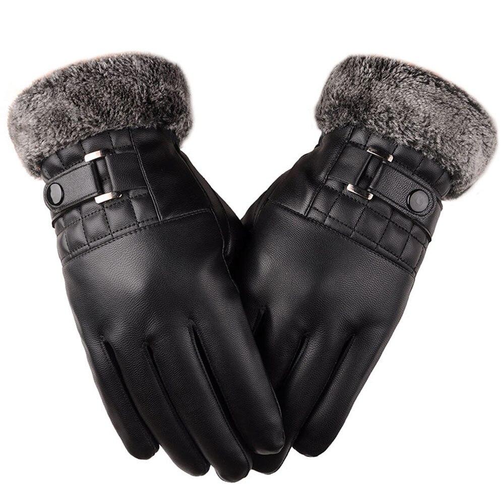 Winter Gloves Men Fashion Cool High Quality Keep Warm Black Gloves Winter Outdoor Sport Motorcycle Ski Snowboard Mittens