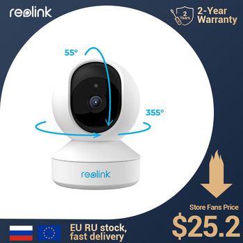 Reolink 3MP indoor ip camera WiFi Pan&Tilt 2-way audio remote access SD card slot home security camera E1