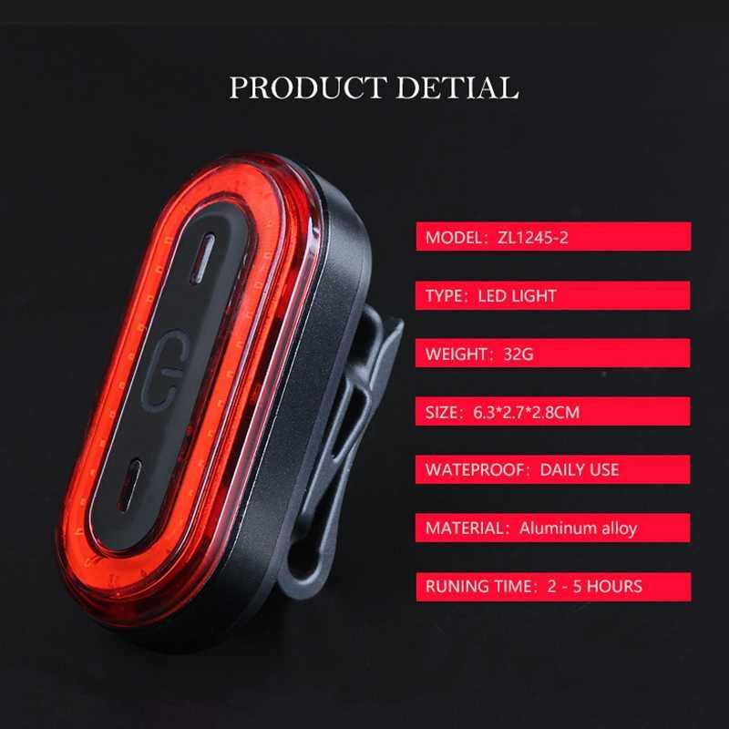 USB перезаряжаемая велосипедная задняя велосипедная фара светодиодный фонарь задний фонарь Водонепроницаемый Предупреждение ющий знак вспышка велосипедный аксессуар