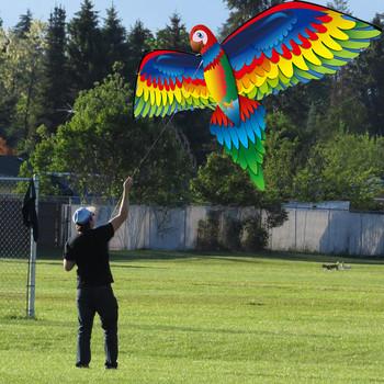3d papuga latawiec zabawki dla dzieci zabawa na świeżym powietrzu latanie aktywność gra dzieci z ogonem nylonowe latawce na świeżym powietrzu latające zabawki dla dzieci latawiec tanie i dobre opinie Z tworzywa sztucznego 3 lat 160cm Super Huge Kite Line Stunt Kites Kite Outdoor Fun Sports Kids Ki Uchwyt i linii latawca