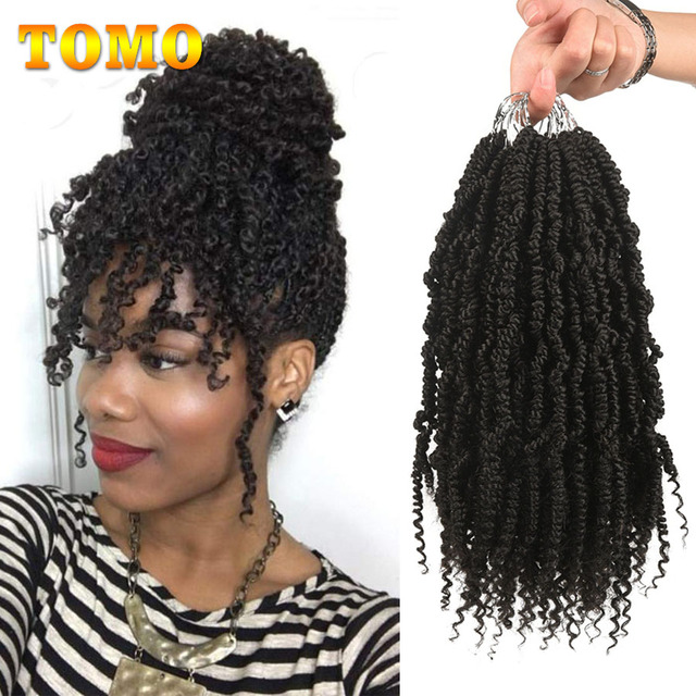 TOMO Bomb Twist Crochet Braids Pre-looped Passion Twist Crochet Hair Ombre Spring Twist Synthetic Braiding Hair Extensions 14 1