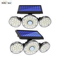 Milchstraße Solar Licht Outdoor 78 LED 83 COB Motion Sensor IP65 Wasserdichte Wand Lampe für Garage Yard Breite Engel beleuchtung