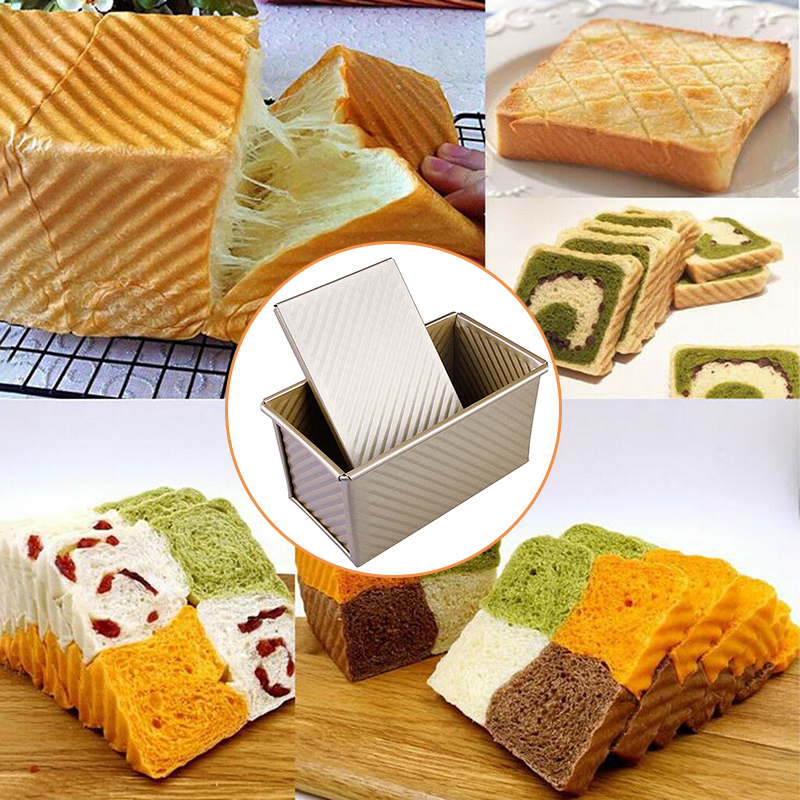 450g Non-stick Mold Cake Loaf Toast Bread Baking Mould Bakeware Pan Gold-Box