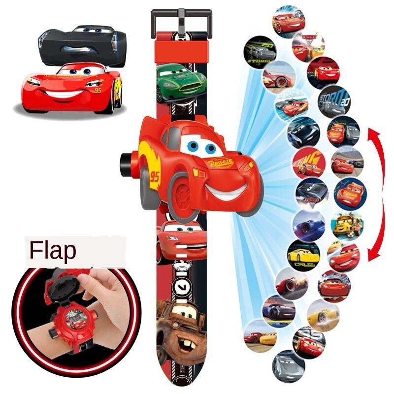 Disney Cars História 20 Fotos Crianças Dos Desenhos Animados Relógio Eletrônico Relógio de Projeção Relâmpago Mcqueen Figura de Ação Presente Criativo para o Miúdo