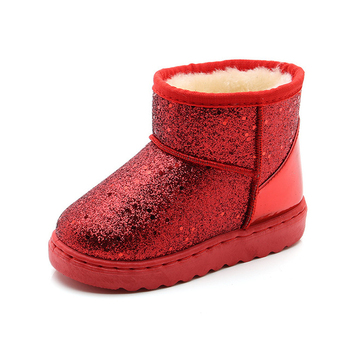 Kids Snow Boots 2019 New Soft Bottom Children's Rubber Boots Shiny Warm Plush Girls Winter Boots Baby Shoes Chaussure Fille 2016 winter new kids boots girls boys super perfect school outdoor free shipping chaussure snow boots super soft and comfortable
