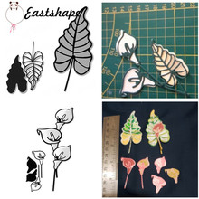 Eastshape Flower Branch Lily Metal Cutting Dies Leaf for Craft Scrapbooking Album Embossing New 2019 Arrival
