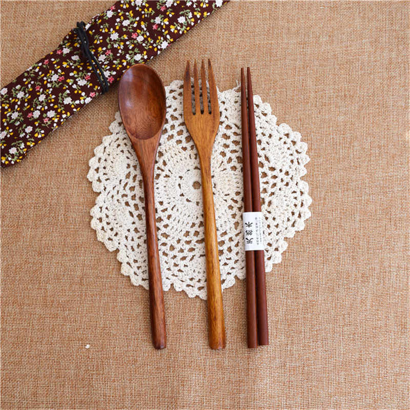 Vaisselle Portable Vintage japonais, Vintage, couverts en bois ensembles de vaisselle de voyage, vaisselle costume voyage environnemental couverts en bois 1 ensemble