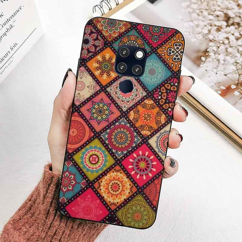 LVTLV piękne kolorowe Boho Mandala kwiaty nowo przybył etui na telefony dla huawei mate 8 S 9 30 10 lite 10pro 20X20pro 20lite