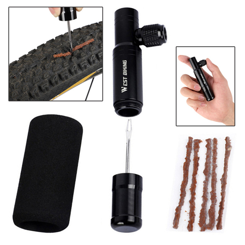 2 in 1 Mini Bike Pump Inflator Bicycle Tubeless Tire Repair Tool Inflatable Tire Repair Set|Bicycle Repair Tools| |  - title=