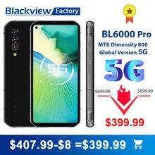 Blackview – Smartphone 5G BL6000 Pro, téléphone portable étanche IP68, 8 go 256 go, Triple caméra 48mp, 6.36 pouces FHD +, 5280mAh, Version globale