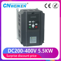 Solar frequency inverter DC to AC 220V 5.5kw 3 phase VFD Variable Frequency Drive Converter for Motor Speed Control