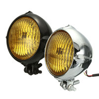 4 inch Chrome Black Motorcycle Yellow Light Headlight Head Lamp For Harley Bobber Chopper