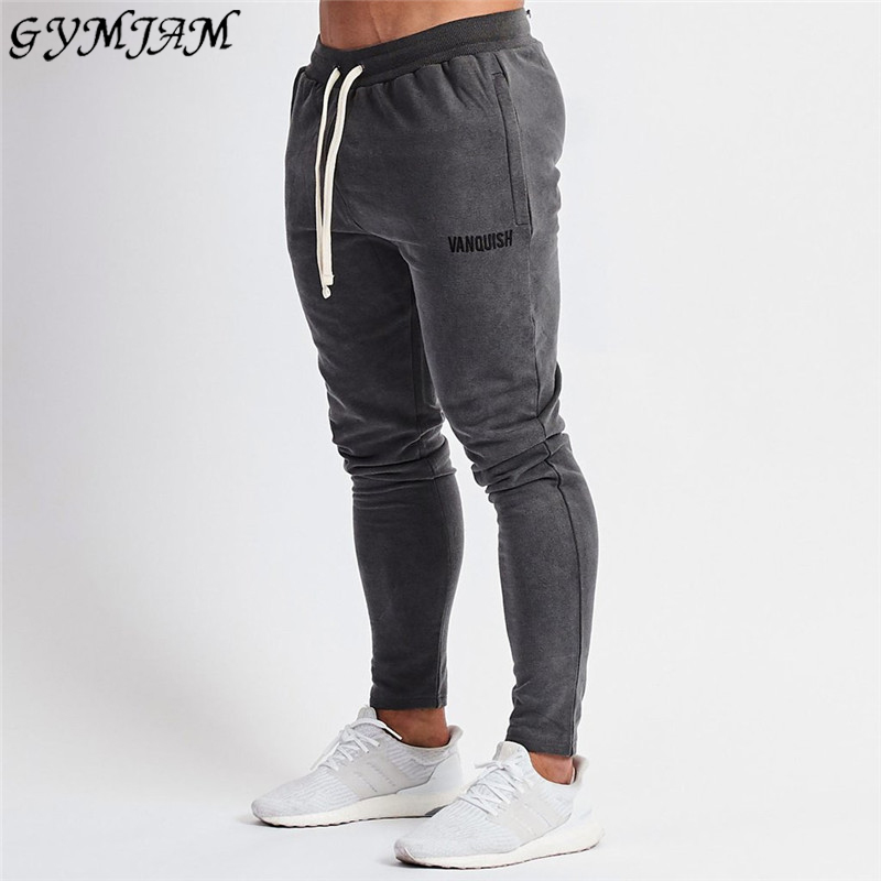 Men's clothing autumn and winter dark gray men's trousers jogger fitness fashion track pants fashion streetwear men's clothing
