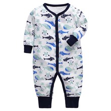 2019 Fashion Baby girl Romper Newborn rompers Boy Girl Long Sleeve Infant Jumpsuits Soft Cotton Clothes Pajamas