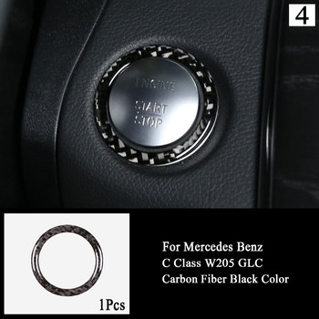 Car Door Handle Bowl Cover Sticker Carbon Fiber Electric Window Lift Switch Button Cover Trim For Mercedes Benz C Class W205 GLC image