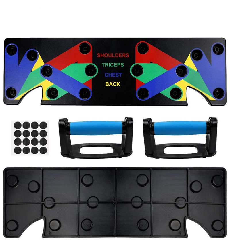 H9afd0d2653974eb086c9be61ff3cf185i - 9 In 1 Push Up Rack Board Men Women Comprehensive Fitness Exercise Push-up Stands Body Building Training System Gym Equipment