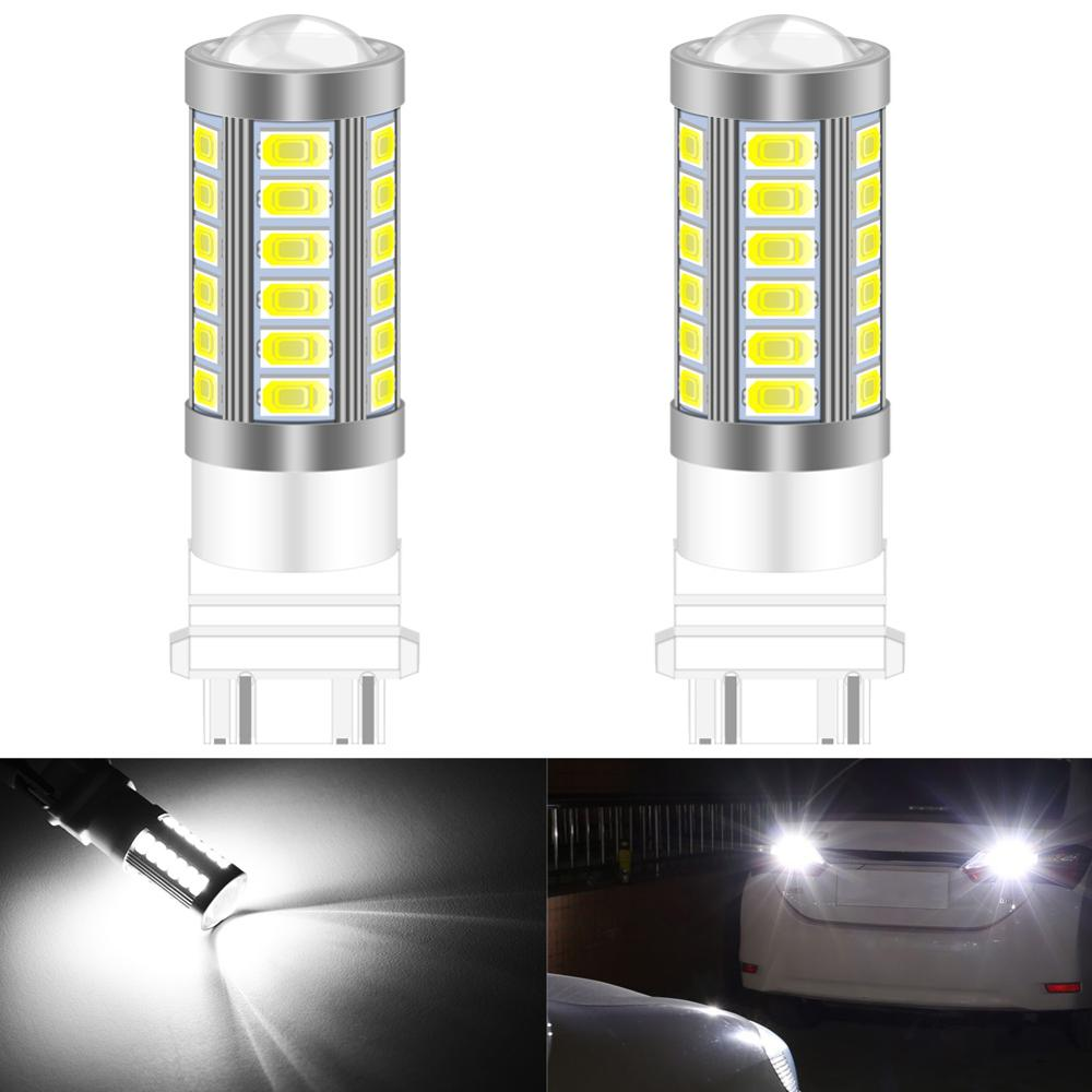 Katur-luz Led para coche, 2 uds., 5630 SMD, 3157, 3156, 4157, 3057, 33 bombillas, Camper, freno de esquina, reserva de apoyo, luz blanca, roja, ámbar y azul