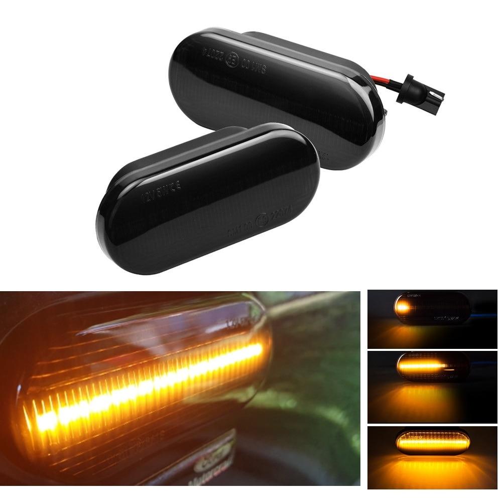 2x For Hyundai Accent MK2 4-LED Side Indicator Turn Signal Light Lamp Bulbs