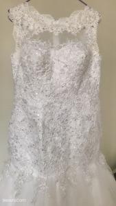 Image 4 - Fansmile vestido de casamento sereia, conjunto com miçangas handwork, roupas nuas e sem costas, para casamento 2020, recém chegado, FSM 507M