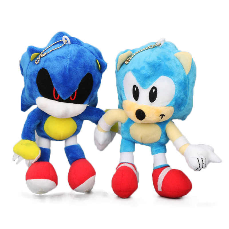 2pcs Set Sonic The Hedgehog 18cm 7 Sonic Plush Keychain Toys Metal Sonic Stuffed Doll Super Sonic Shadow Knuckles Tails Dolls Aliexpress