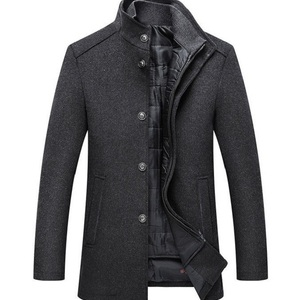 Hot sale Warm Wool Coat Men Thick Overco