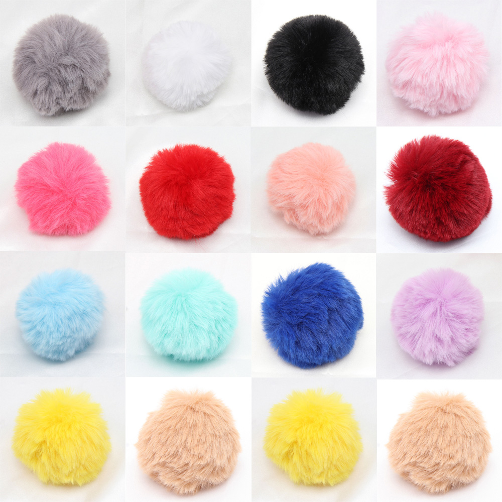 JOJO BOWS 75mm 5pcs Pompom Hairball DIY Craft Supplies Soft Solid Ball Apparel Home Decoration Hair Accessories Hanging Ornament