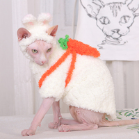 Hairless Cat Coral Wool Sweater Sphinx Winter Warm Dress plus Wool Pet Hand Sweater cat hoodie sweater for a cat suit clothing
