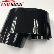 15cm * 1m/2m/3m/4m/5m/6m brilho preto ar-liberação vinil envoltório rolo matte corpo do carro adesivo que envolve a folha