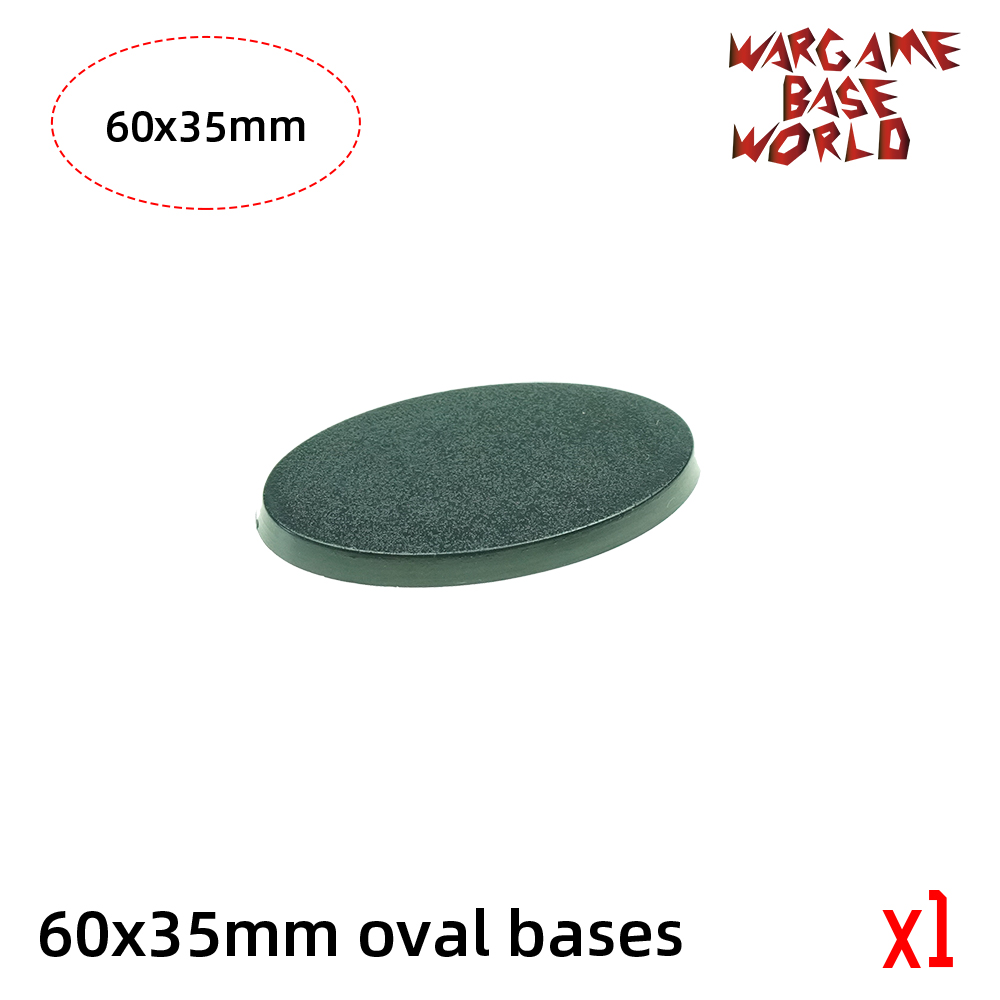 Wargame Base World -  Oval Bases - 60 X 35mm - 60mmx35mm